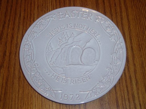 Vintage 1972 Frankoma Easter Plate Oral Roberts