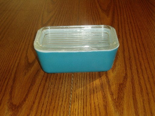Vintage Pyrex Blue Refrigerator Storage Dish With Lid