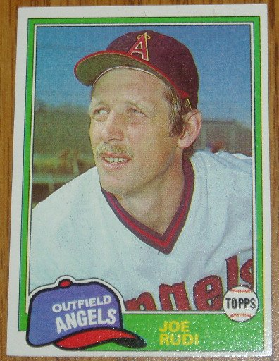 1981 MLB Topps Card #701 Joe Rudi California Angels OF