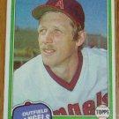 1981 MLB Topps Card #701 Joe Rudi California Angels OF