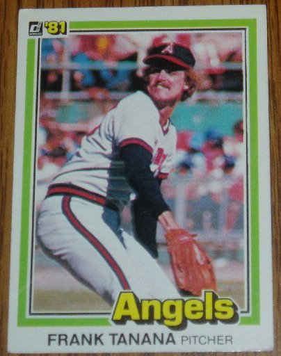 1981 MLB Donruss Frank Tanana CA Angels Card #171