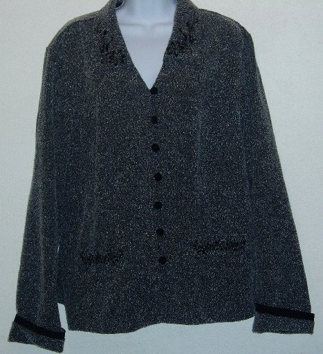 Melissa Harper M.H.M. Woman Gray Jacket/Top Size 18W