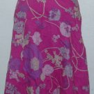 NWT Calvin Klein Pink Floral Crinkle Skirt Sz 14