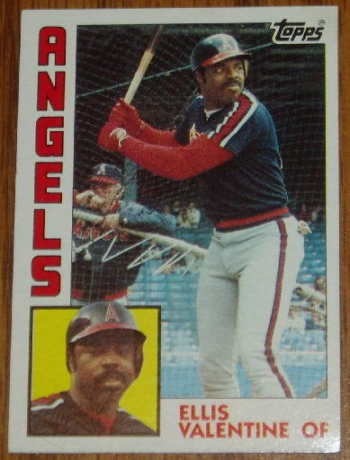 1984 MLB Topps Card #236 Ellis Valentine California Angels