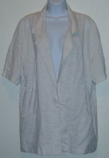 Joanna Tan Jacket Blazer Short Sleeve Size XL