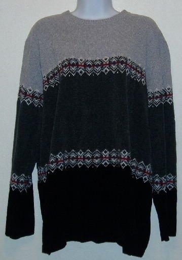 Karen Scott Gray and Black Chenille Sweater Size XL