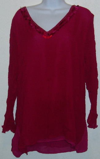 Purple Sheer Long Sleeve Avenue Blouse Shirt Size 18 20
