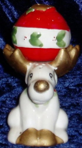 Reindeer and Ornament Christmas Salt Pepper Shakers