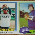 Lot of 2 Rich Dotson White Sox Cards Donruss Topps MLB