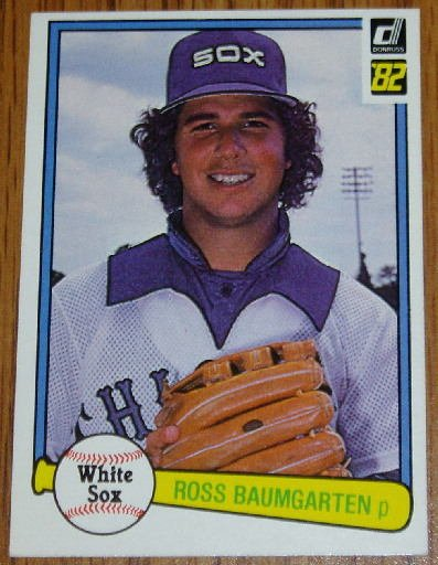 1982 MLB Donruss Ross Baumgarten Card #104 White Sox