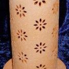 NIB PartyLite Terra Blossom Pillar Lantern Candle Holder