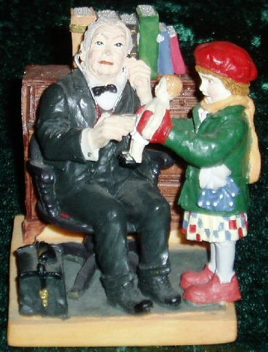 1998 Doctor and Doll Norman Rockwell Figurine