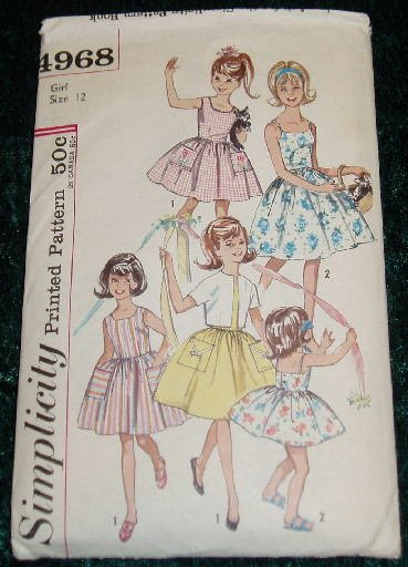 Vintage Simplicity Girl's Dress & Jacket Pattern Size 12
