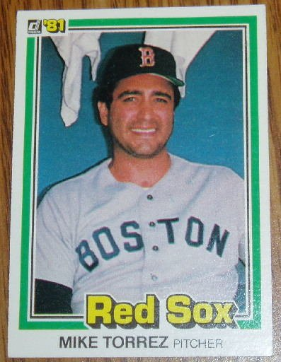 1981 MLB Donruss Mike Torrez Card #216 Boston Red Sox