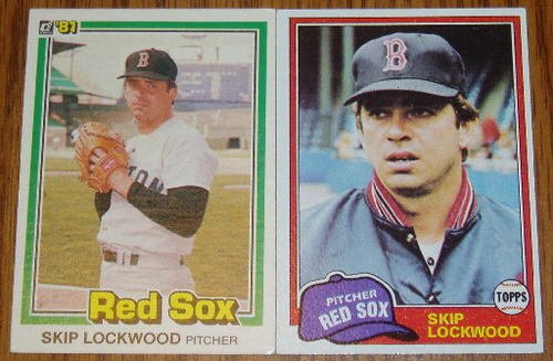 Lot of 2 MLB Skip Lockwood Card Topps Donruss Red Sox