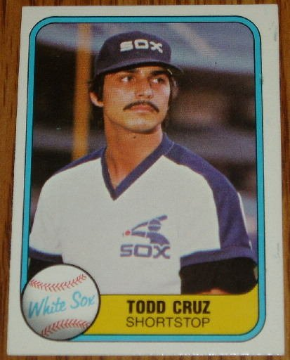 1981 MLB Fleer Card #341 Todd Cruz Chicago White Sox
