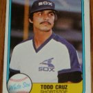 1981 MLB Fleer Card #341 Todd Cruz Chicago White Sox