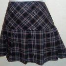 Star City Junior's  Size 7 Black Red Plaid Mini Skirt Pleated