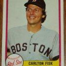 1981 MLB Fleer Card #224 Carlton Fisk Boston Red Sox