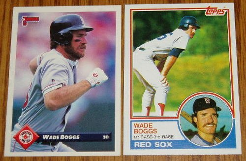 Wade Boggs Topps 1983 RC #498 and 1992 Donruss #619