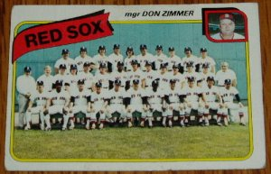 1980 MLB Topps Card #689 Topps Boston Red Sox Team