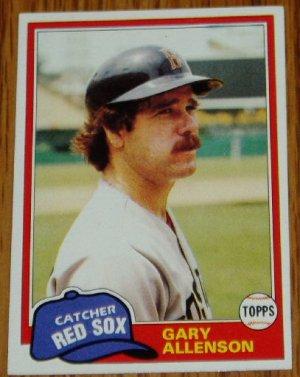 1981 MLB Topps Card #128 Gary Allenson Boston Red Sox