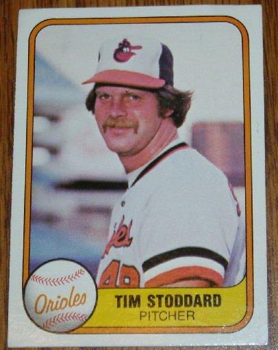 1981 MLB Fleer #176 Tim Stoddard Baltimore Orioles Card
