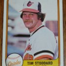 1981 MLB Fleer #176 Tim Stoddard Baltimore Orioles Card