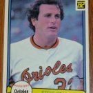 1982 MLB Donruss Steve Stone Baltimore Orioles Card #357