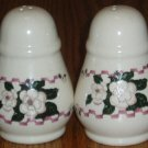 Ceramic Magnolia Flower Salt and Pepper Shaker Set
