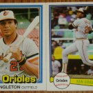 Lot of 2 MLB Donruss Ken Singleton Cards #115 105
