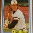 1981 MLB Donruss Gary Roenicke Orioles Card #116