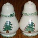 Spongeware Christmas Tree Salt and Pepper Shaker Set