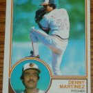 1983 MLB Topps Denny Martinez Card #553 Baltimore Orioles