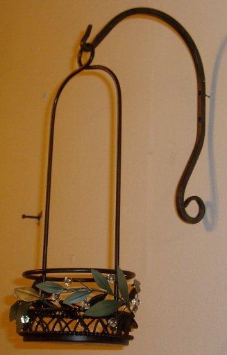 PartyLite Garden Lites Hanging Metal Pillar Candle Holder