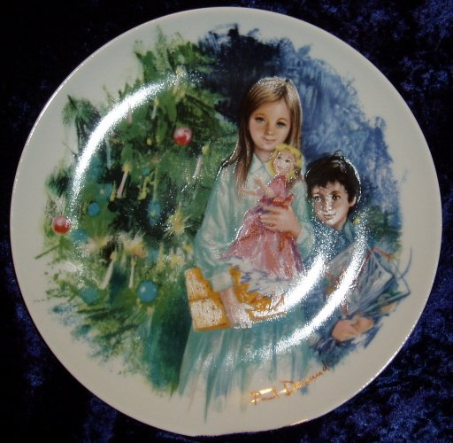 1980 Limoges -Turgot Cecile et. Raoul Collector Plate