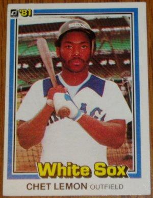 1981 MLB Donruss Chet Lemon Card #281 Chicago White Sox