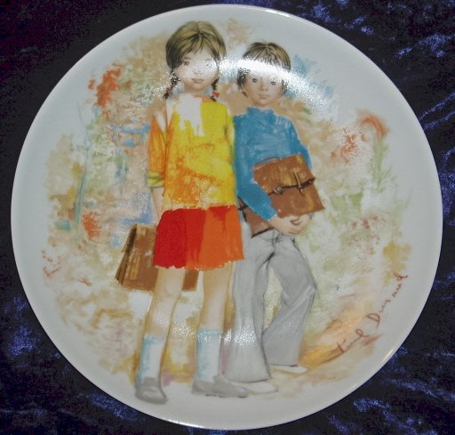 1979 Limoges Turgot Emilie et Philippe Collector Plate