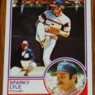 1983 MLB Topps Sparky Lyle Card #693 Chicago White Sox