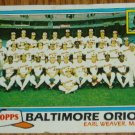 1981 MLB Topps Card #661 Topps Baltimore Orioles Team