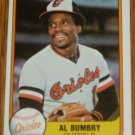 1981 MLB Fleer #172 Al Bumbry Baltimore Orioles Card