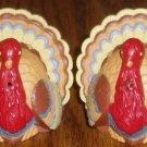 Plastic Turkey Salt Pepper Shaker Set Thanksgiving Fall