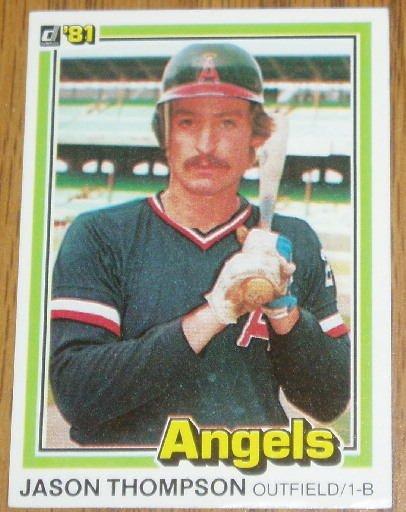 1981 MLB Donruss Jason Thompson CA  Angels Card #293