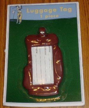 NIP Golf Bag Luggage Tag Sports Travel Gift Maroon