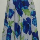 NWT Sag Harbor Blue White Floral Cotton Eyelet Skirt Size 18