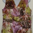 NWT Amanda Smith Multi-Color Sleeveless Blouse Size 12