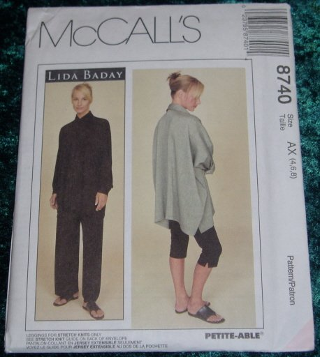 McCall's Lida Baday Shirt Pants Uncut Pattern #8740 Sz 4 6 8