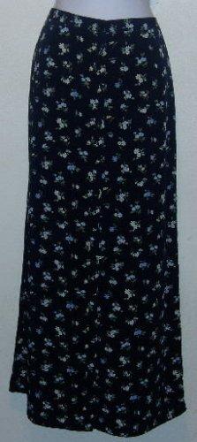 Gap Skirt Navy Blue w/Blue Floral Print Size 6