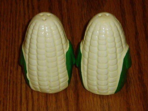 Corn Cob Figural Ceramic Salt/Pepper Shaker Set