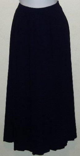 Tan Jay Navy Blue Pleated Career Skirt Size 16